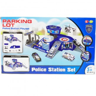 Parking Lot Police Station Set