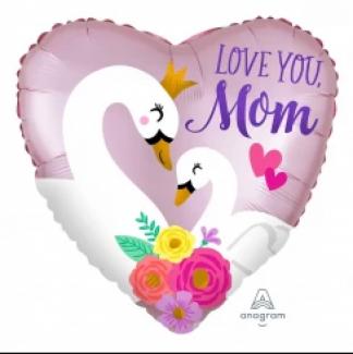 Swan Mother Heart Balloon