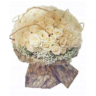 Stunning White 200 Roses Bouquet
