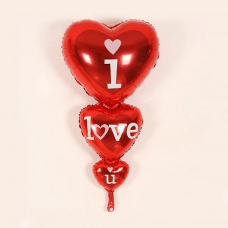 Three Heart I Love You Balloon