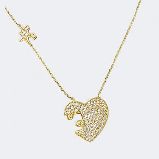 Part Of My Heart Gold Necklace