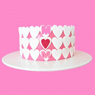 Mothers Day Hearts design Cake