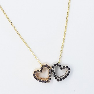Two Hearts Gold Necklace
