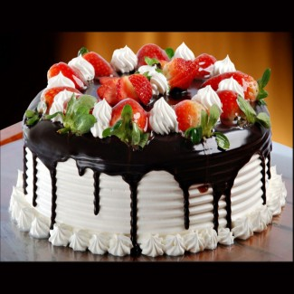 Strawberry Dipped In Chocolate Cake