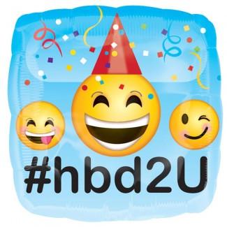 Happy Birthday Emoji Balloon