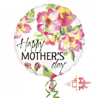 Happy mothers day flowers round balloon 43cm