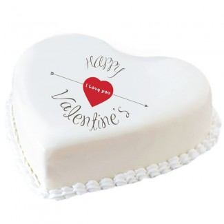 Happy Valentine Heart Cake