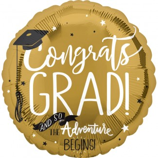 Let The Adventure Begins Grad Balloon
