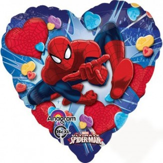 Spiderman Love Heart Balloon