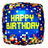 Birthday single blue balloon