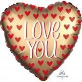 I Love You Satin Gold Balloon