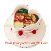 Heart Cake for a Cute Couple