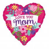 Helium Love You Mom Cute Floral Balloon