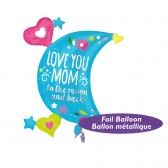 XXL Love You Mom to The Moon And Back Balloon